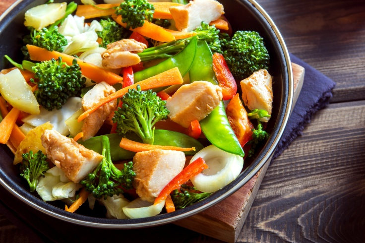 stir fry with chicken